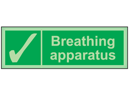 Breathing apparatus photoluminescent safety sign