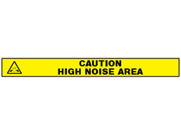 Caution, high noise area barrier tape
