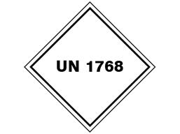 UN 1760 (Caustic soda ) label.