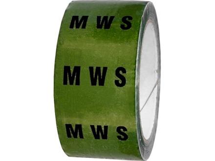 MWS pipeline identification tape.