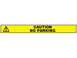 Caution no parking barrier tape