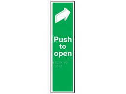 Push to open sign.