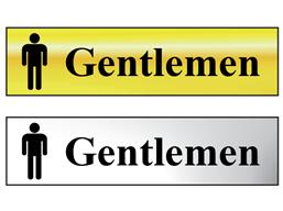 Gentlemen metal doorplate