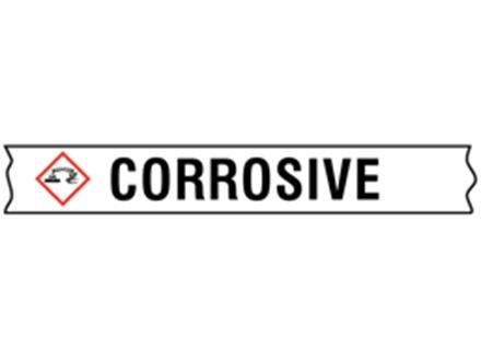 Corrosive GHS tape.