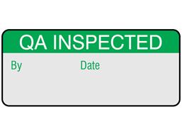 QA inspected aluminium foil labels.