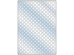 Transparent laminate labels, 15mm diameter