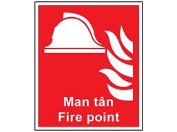 Man tân, Fire Point. Welsh English sign.