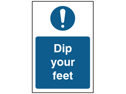 Dip your feet safety sign.