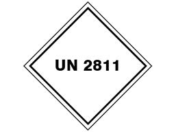UN 2811 (Ammonium oxalate, caffeine) label.
