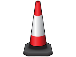 Parking or traffic control cone, 750mm high