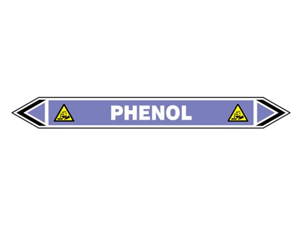 Phenol flow marker label.