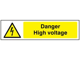 Danger High voltage, mini safety sign.