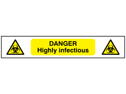 Danger Highly infectious symbol and text safety tape.