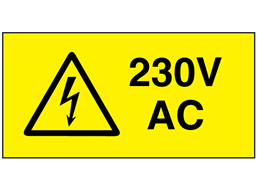 230V AC Electrical warning label