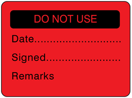 Do not use fluorescent label