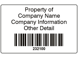 Scanmark barcode label (black text), 32mm x 50mm