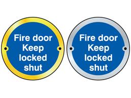 Fire door keep locked shut symbol door sign.