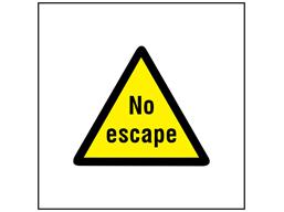 No escape symbol safety sign.