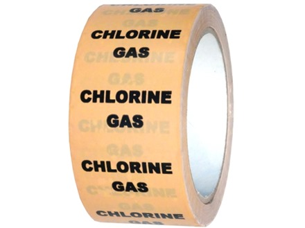 Chlorine gas pipeline identification tape.
