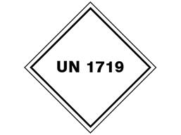 UN 1719 (Caustic alkali liquid ) label.