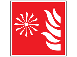 Fire alarm symbol safety sign.