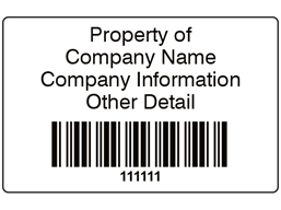 Scanmark+ barcode label (black text), 32mm x 50mm