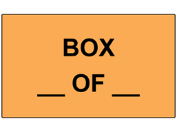 Number of boxes labels