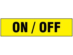 On / Off label