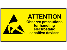 Attention observe precautions for handling label.