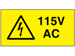 115V AC Electrical warning label