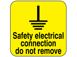 Safety Electrical Connection Do Not Remove Esl145