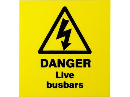Danger live busbars label