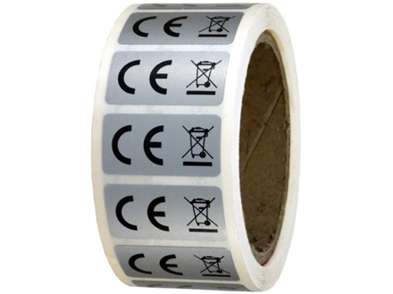 CE and WEEE symbol labels.
