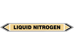 Liquid nitrogen flow marker label.