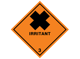 Irritant 3 hazard warning diamond sign