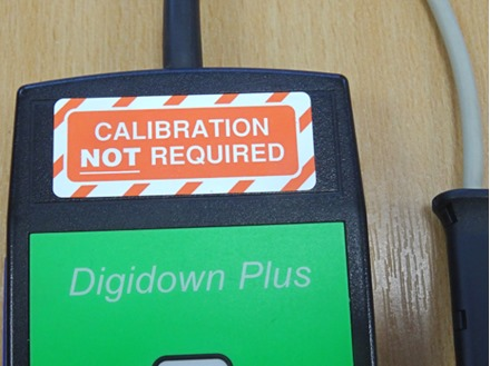 Calibration not required label