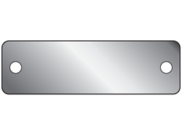 Blank stainless steel nameplate, 15mm x 50mm