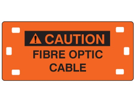 Cable fibre optic cable tag.