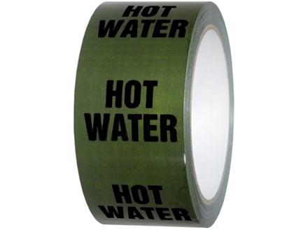 Hot water pipeline identification tape.