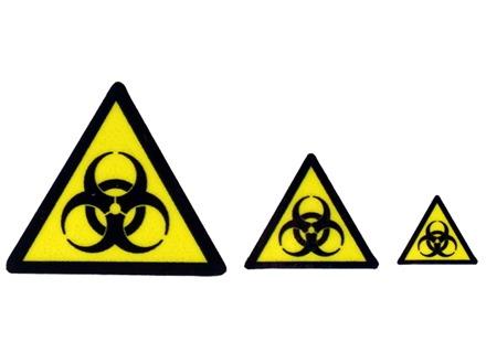 Biological Hazard Warning Symbol Label Rwl106 Label