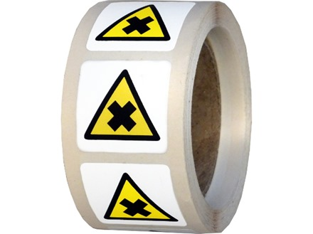 Warning Harmful Irritant Hazard Symbol Label Wsl1014 Label Source