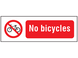 No bicycles safety sign.