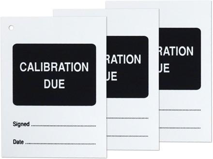 Calibration due tag.