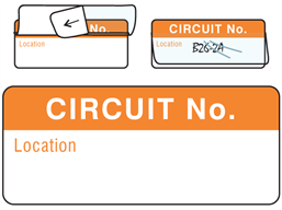 Circuit number write and seal labels.