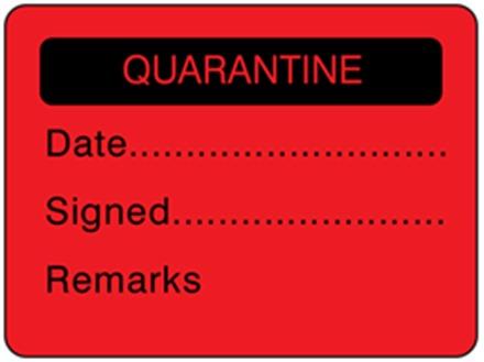 Quarantine fluorescent label
