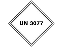 UN 3077 (Environmental hazard, solid) label.