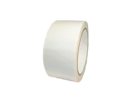 Plain white pipeline identification tape.