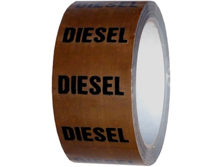 Diesel pipeline identification tape.
