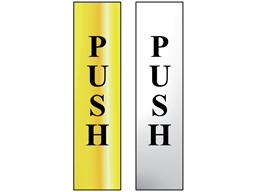 Push metal doorplate
