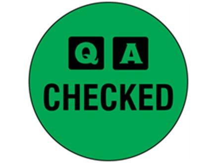QA Checked label